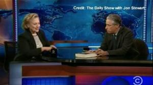 Jon Stewart asks Hillary Clinton if she's running for President