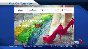 Helping to prevent bullying by kicking off your heels