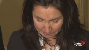 Wife of fallen RCMP officer delivers emotional statement following review of Moncton shootings