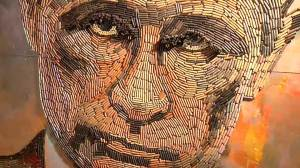 Artist uses bullet cases in portrait of Putin