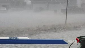 Hail storm batters Alberta
