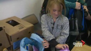 Kids get backpack full of school supplies in Halifax