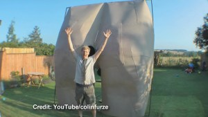UK Inventor makes giant fart machine to point at France