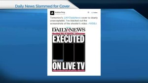 NY Daily News slammed for violent cover