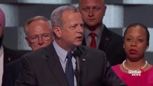 General John Allen fires up the DNC with impassioned speech