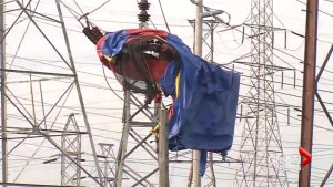 Strong winds sends Niagara bounce house airborne into power lines