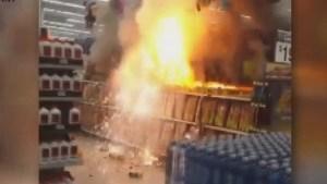 Huge fireworks fire at Arizona Walmart forces evacuation