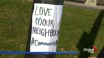 Residents in East York take a stand against racism