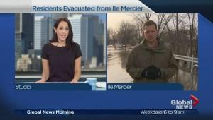 Île Mercier residents evacuate