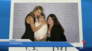 Ava Hadfield meets Taylor Swift