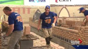 Bricklayers do battle to see who's best