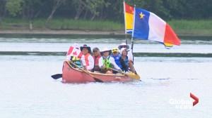 St. John River Wolastoq Brigade reaches Fredericton in journey down river