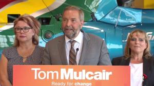 'I might have had a chance to read that': Mulcair on NYT article blasting Harper
