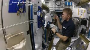 Astronaut Tim Peake's outer space shower