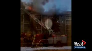 Edmontonians take desperate measures to escape apartment building fire