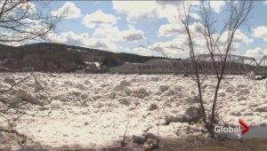 New Brunswick community evacuated due to huge ice jam build up