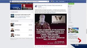 Federal PCs' terrorism Facebook post