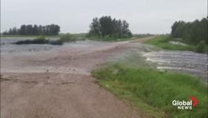 Raw video: Flooding in southeast Saskatchewan