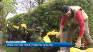Flood emergency in Quebec
