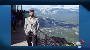Son of murdered Calgary businessman gives emotional plea for help