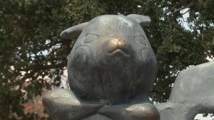 Mysterious Pokemon statue appears out of nowhere in New Orleans park