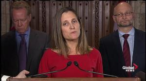 Walking out of CETA deal 'right thing to do': Freeland