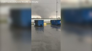 Massive tornado rolling through New Orleans caught on camera