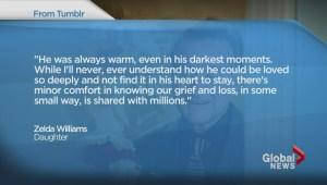Tribute to Robin Williams by heartbroken daughter Zelda