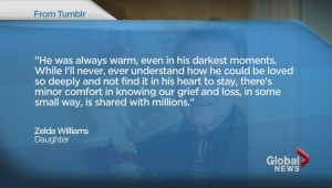 Tribute to Robin Williams by heartbroken daughter Zelda