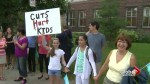 Parents, teachers protest cuts to education