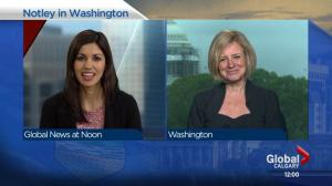 Alberta Premier Rachel Notley in Washington