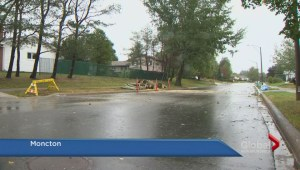 Violent rain storm hammers New Brunswick
