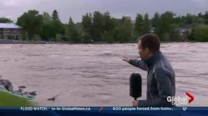 Flood watch in downtown Calgary