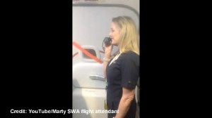 Southwest Airlines flight attendant delivers hilarious safety speech