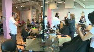 Raw video: O Coiffure & Spa give back