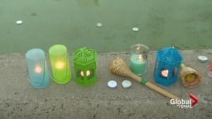 Vigil held for boys killed by python