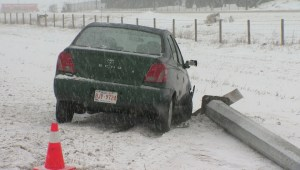 Snow creates dangerous driving conditions