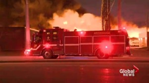 Firefighters injured in massive fire at Mississauga warehouse
