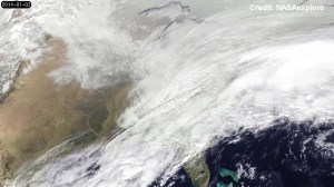 NASA satellite captures timelapse of winter storms on east coast