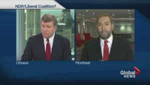 Mulcair on Ukraine and a possible coalition