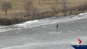 River ice break-up sparks warning from officials