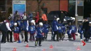 Young skaters get a surprise lesson from Olympians