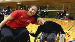 Wheelchair basketball star Amanda Yan