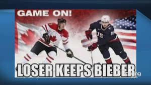 Olympic hockey bet: Loser keeps Bieber