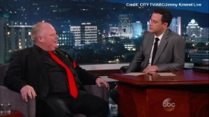 Jimmy Kimmel asks Rob Ford if he's homophobic
