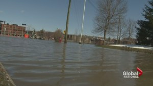 Major flood damage in Quebec