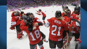 Canada women's hockey team rejoices in medal gold win