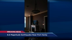 History of earthquakes recorded off Port Hardy