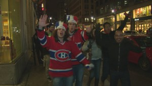 Habs fans celebrate series win over Tampa Bay