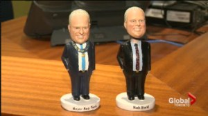 Mayor's re-election campaign is trading bobbleheads for dollars.